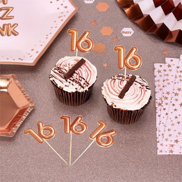 Glitz & Glamour Rose Gold Food Picks 16th (20)